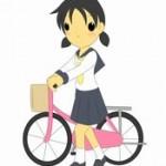 自転車通学の女子高生のレインコート!濡れなくってオシャレがいい!