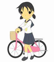 自転車通学 レインコート
